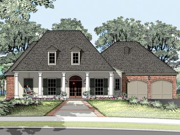 Southern Ranch House Plan, 079H-0011