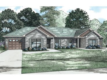 Duplex Home Plan, 025M-0087