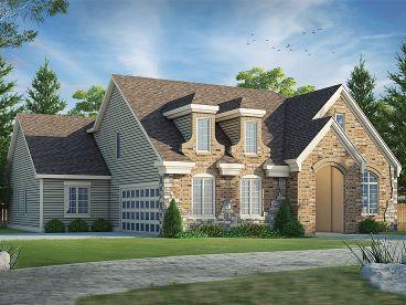 European House Plan, 031H-0296