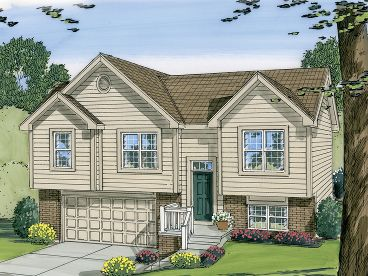 Split-Level Home Plan, 050H-0004