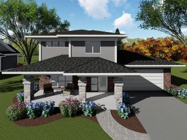 Contemporary House Plan, 020H-0436