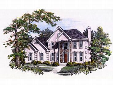 Two-Story House Plan, 019H-0074