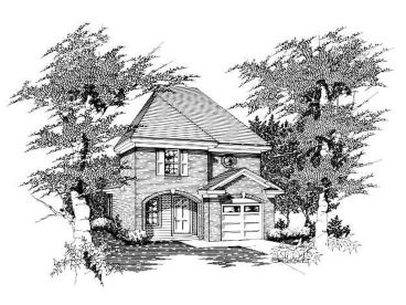 Narrow Lot House Plan, 061H-0007