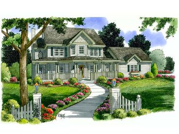 Country Victorian House, 047H-0032