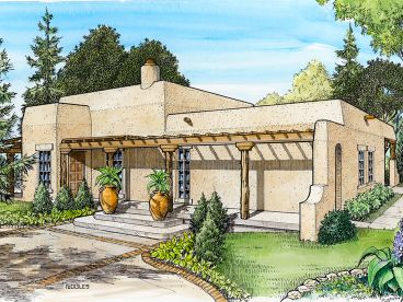 Adobe House Plan, 008H-0021