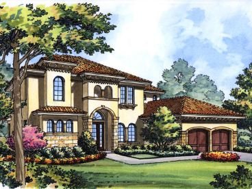Tuscan House Plan, 043H-0164