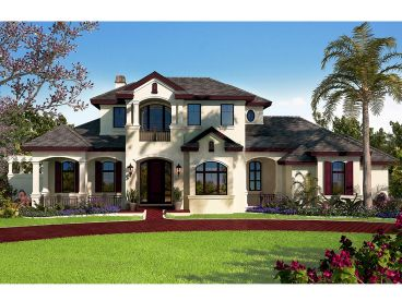 Luxury Sunbelt House Plan, 037H-0227