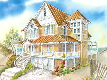 Beach Home Design, 041H-0129