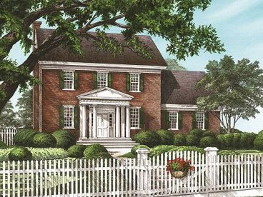 Colonial Home Plan, 063H-0198