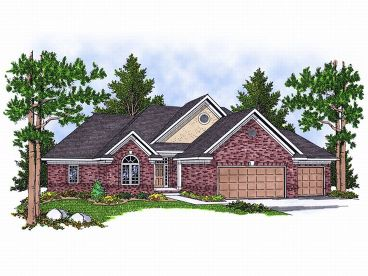Ranch Home Plan, 020H-0100