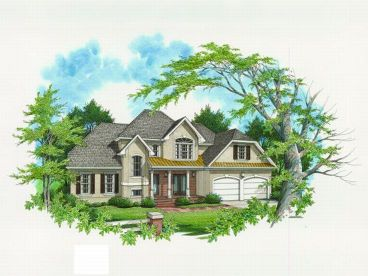 European House Plan, 030H-0045