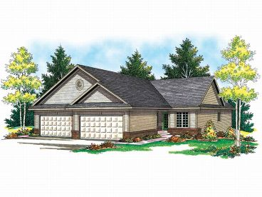 Duplex House Plan, 020M-0036