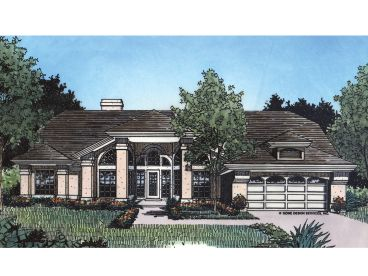 Sunbelt House Plan, 043H-0090