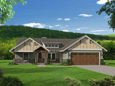 Craftsman House Plan, 062H-0151