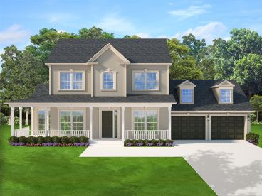 Country Traditional Home Plan, 064H-0122