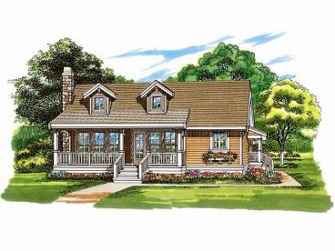 Cottage Home Design, 032H-0083