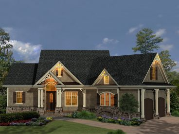Ranch House Plan, 084H-0035