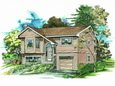 Split-Level House Plan, 032H-0012