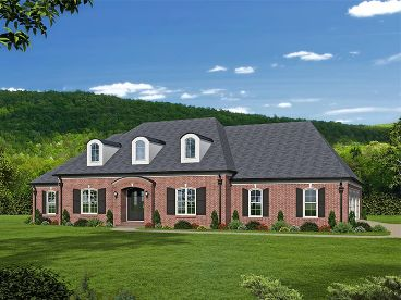 European House Plan, 062H-0110