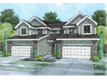 Traditional Duplex Plan, 031M-0076