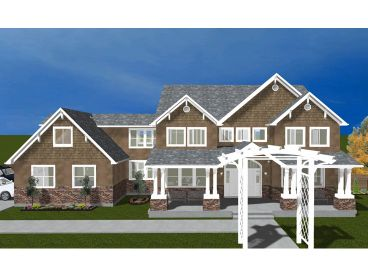 Craftsman House Plan, 065H-0036