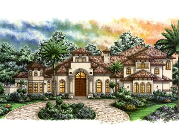 Mediterranean Home Plan, 037H-0162