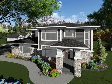 Contemporary House Plan, 020H-0421