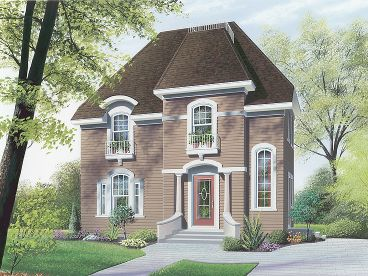 Narrow Lot House Plan, 027H-0168