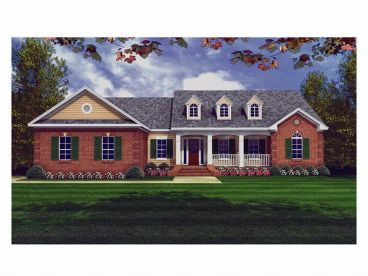Ranch House Plan, 001H-0048