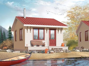 Cabin House Plan, 027H-0151