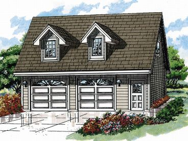 Garage Apartment Plan, 032G-0003