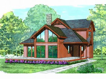 Waterfront House Plan, 032H-0029