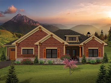 Ranch House Plan, 020H-0254
