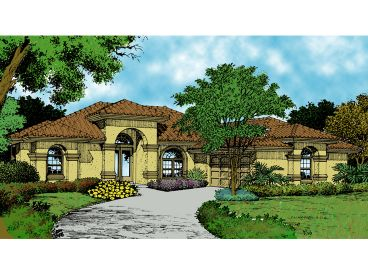 Mediterranean Home Plan, 043H-0054