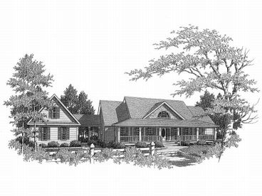 Country House Plan, 019H-0071