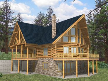 Log Home Plan, 012L-0054