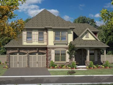 Two-Story Home Design, 014H-0089