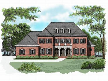 Colonial Home Plan, 029H-0050