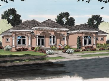Sunbelt House Plan, 050H-0088