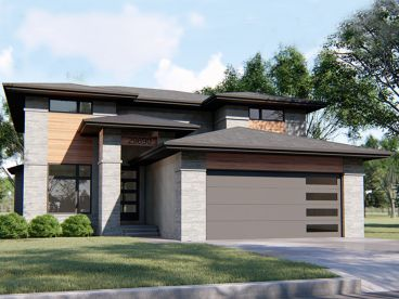 Contemporary House Plan, 050H-0183