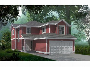 Narrow Lot Home Design, 026H-0107