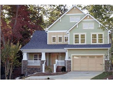 Craftsman Home Plan, 031H-0129