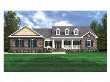 Ranch House Plan, 001H-0094
