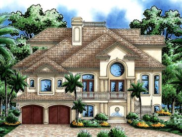 Coastal House Plan, 037H-0141