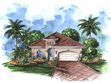 Narrow Lot Home Plan, 037H-0001