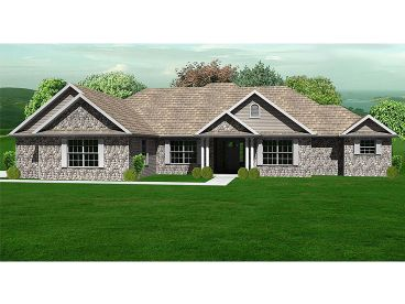 Ranch House Plan, 048H-0025