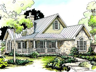Bungalow House Plan, 008H-0003