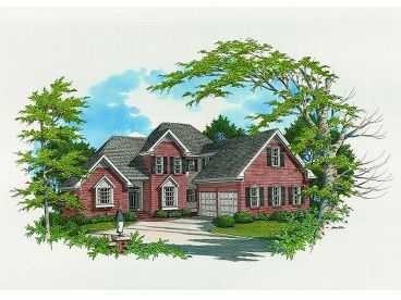 Two-Story House Plan, 030H-0055