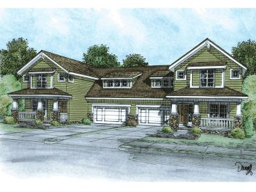 Duplex Home Plan, 031M-0032