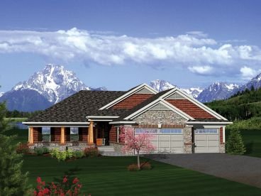 Craftsman House Plan, 020H-0302